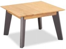 Konferenčný stolík Hakon - 70x45x70 cm (hnedá, sivá)