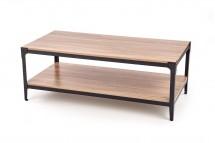 Konferenčný stolík Monta (polica, dub, čierna)