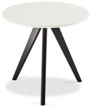 Konferenčný stolík Porir - 48x45x48 cm (biela, čierna)