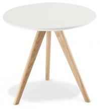Konferenčný stolík Porir - 48x45x48 cm (biela, hnedá)