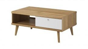 Konferenčný stolík Primo (dub riviera, biela)