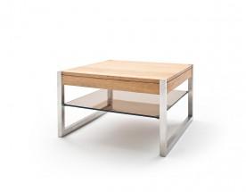 Konferenčný stolík Saget - 65x38x65 (dub, hnedá)