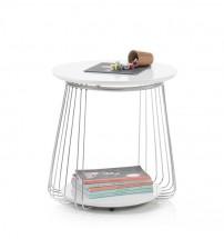 Konferenčný stolík Selvan - 50x51x50 (biela)