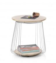 Konferenčný stolík Selvan - 50x51x50 (dub, hnedá)