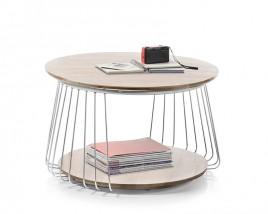 Konferenčný stolík Selvan - 70x42x70 (dub, hnedá)