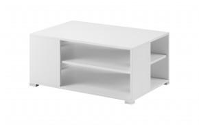 Konferenčný stolík Simple (biela, biela lesk)