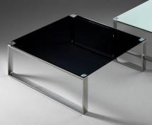 Konferenčný stolík Stain (čierna, 80x80 cm) - II. akosť
