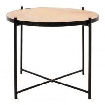 Konferenčný stolík Verdel (dub, čierna)