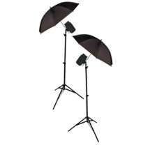 KÖNIG foto štúdio - 2x dáždniky,stojany, ampy 200W POŠKODENÝ OBAL