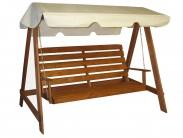 konštrukciar - Drevená hojdačka, 3 miesta na sedenie (Drevo)
