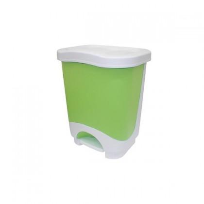 Kôš na odpadky, 8l (zelená, biela)