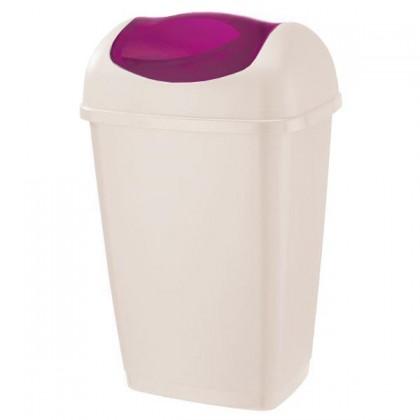 Kôš na odpadky Grace, 15l (biela, fialová)