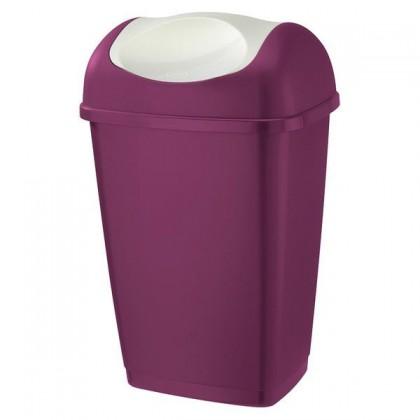 Kôš na odpadky Grace, 25l (fialová, biela)