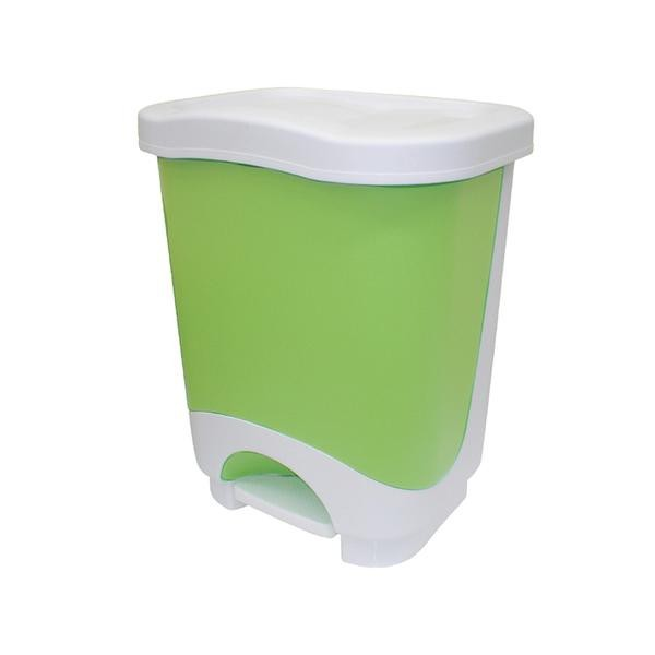 Kôš na odpadky Idea, 24l (zelená, biela)