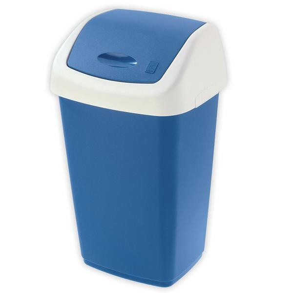 Kôš na odpadky Swing, 50l (modrá, biela)