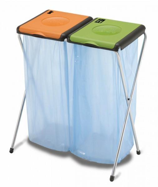 Kôš na triedený odpad Nature 2 (oranžová, zelená)