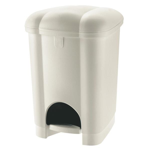 Kôš odpadkový, nášľapný, 50l (biela)
