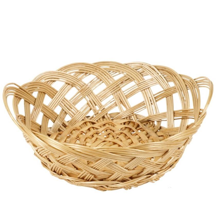 Košík proutěný - přírodní barva