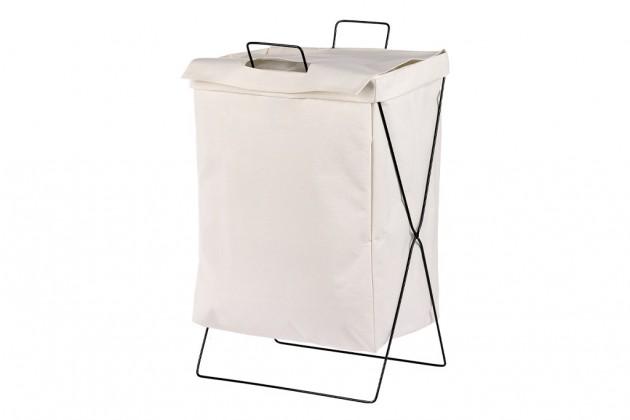 Košíky Látkový kôš na bielizeň (biela)