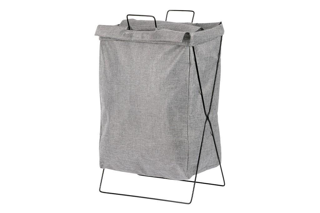 Košíky Látkový kôš na bielizeň (tmavo sivá)