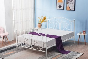 Kovová posteľ Beatrix 120x200, biela, bez matraca a ÚP