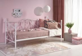 Kovová posteľ Jasmina 90x200, biela, bez matraca a ÚP