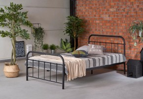 Kovová posteľ Niko 120x200, čierna, bez matraca