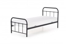 Kovová posteľ Niko 90x200, čierna, bez matraca