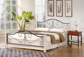 Kovová posteľ Susanne 160x200, biela,čierna,vr.roštu,bez matraca