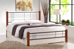 Kovová posteľ Vera 160x200 cm, čerešňa, čierna
