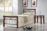 Kovová posteľ Verona 90x200, vrátane roštu, bez matracov