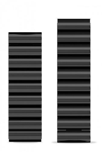 Kovový remienok Aligator, šírka 22mm, čierna