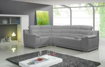 Kožená sedačka rozkladacia Palermo ľavý roh ÚP sivá