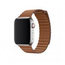Kožený magnet. remienok pre Apple watch 38/40 mm, Loop, hnedá