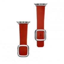 Kožený magnetický remienok na Apple watch 38/40 mm, červený