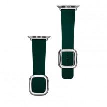 Kožený magnetický remienok na Apple watch 38/40 mm, zelený