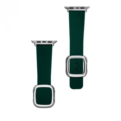 Kožený magnetický remienok na Apple watch 42/44 mm, zelený