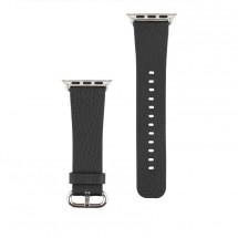 Kožený remienok na Apple watch 38/40 mm, čierny