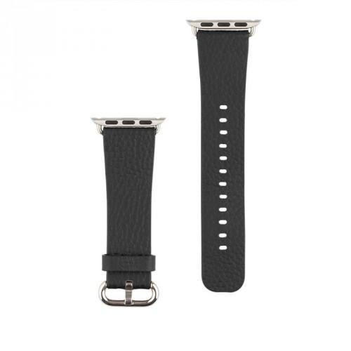 Kožený remienok na Apple watch 42/44 mm, čierny
