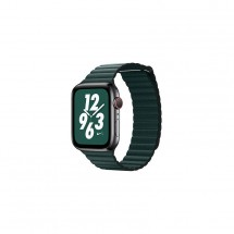 Kožený remienok na Apple watch 42/44 mm, Loop, T zelený