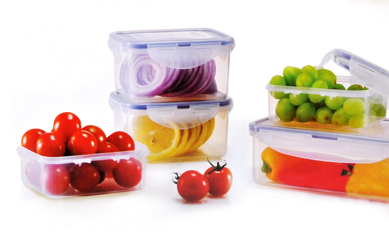 Krabičky na jedlo Dózy na potraviny Lock & Lock HPL806S5, 5ks