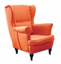 Kreslo ušiak Flo oranžová