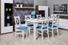 Křížák - Jedálenský set, stôl, rozklad, 6xstolička (aston19/mat)
