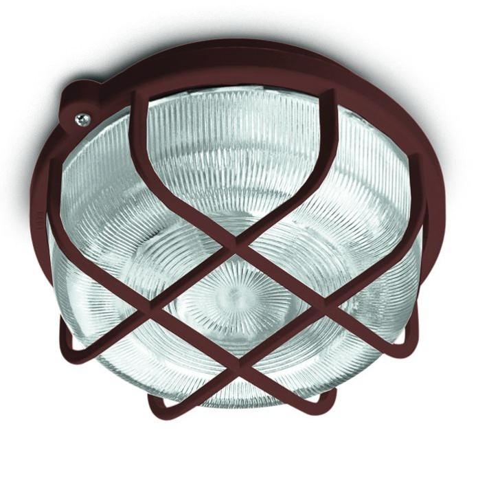 Kruh - Stropné svietidlo, E27, 100W (hnedá)