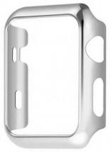 Kryt COTEetCI pre Apple Watch 4/5/6 44mm, polykarbonát, striebor