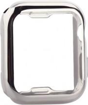 Kryt COTEetCI pre Apple Watch 4/5/6 44mm, termoplast, strieborná