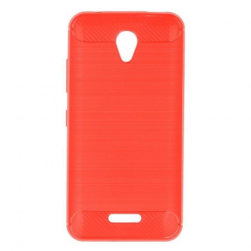 Kryty na Huawei Zadný kryt pre P9 Lite 2017, carbon, červená