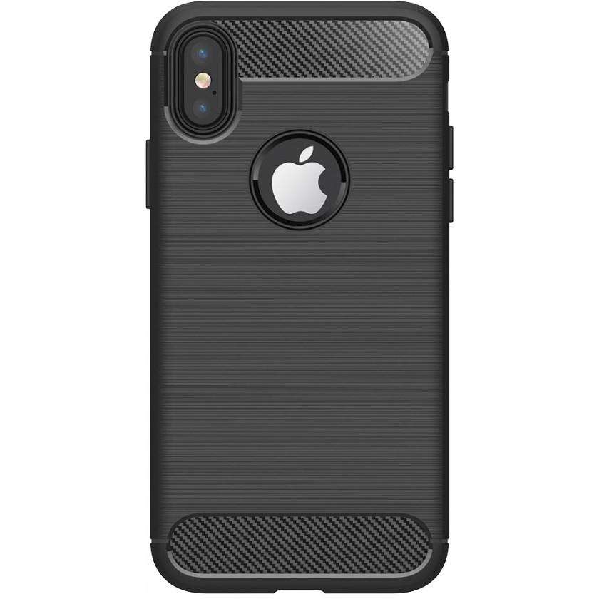 Kryty na iPhone Zadný kryt pre Apple iPhone XR, karbón, čierna