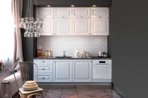 Kuchyňa Alina - 240 cm (biela)