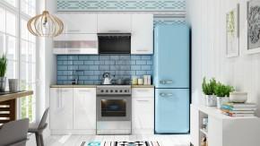 Kuchyňa Aurora - 180 cm (biela vysoký lesk)
